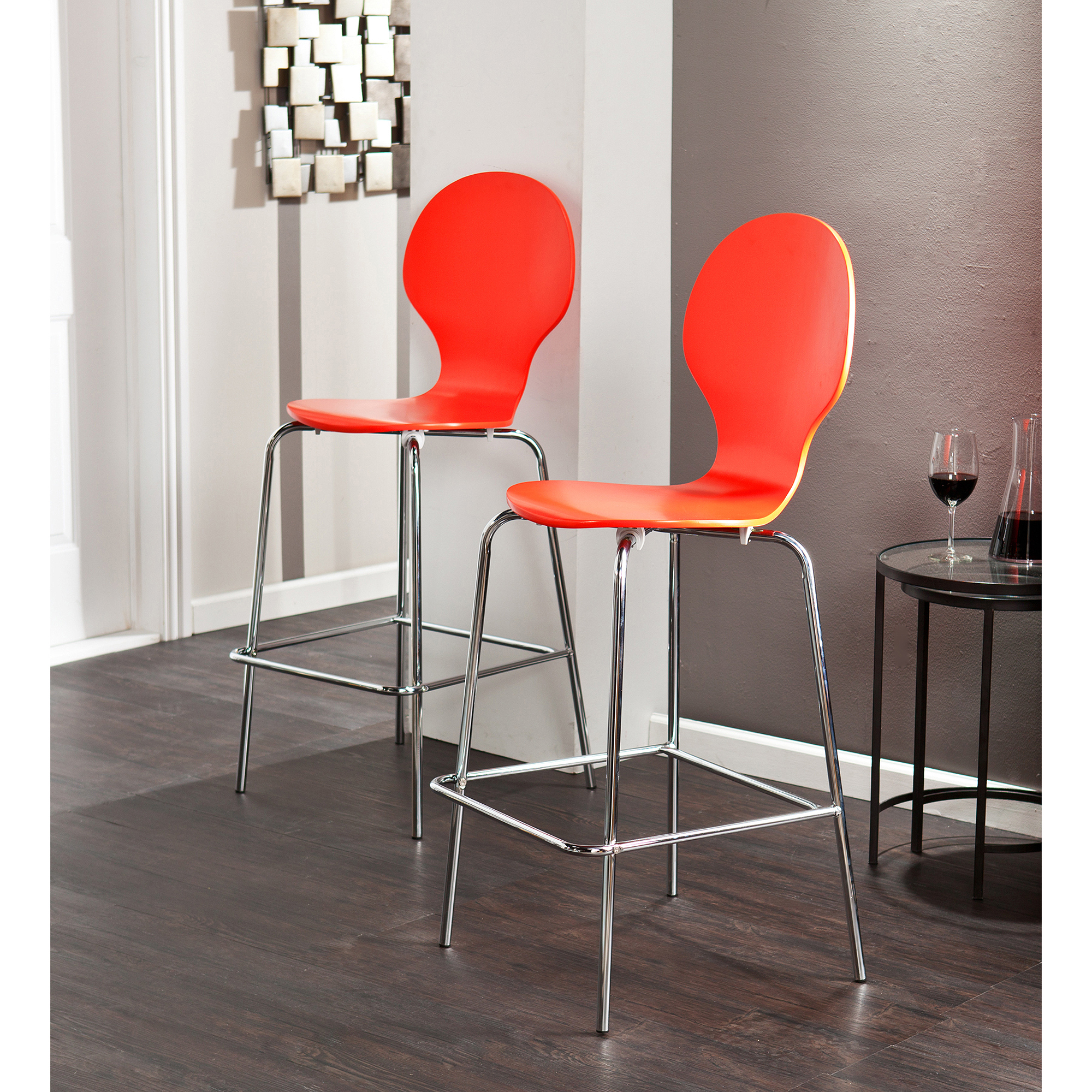 Imagio Home Loft Faux Leather Counter Stools 24 Quot Set Of 2