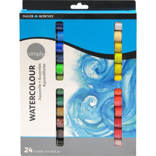 Simply Watercolor 24-Piece 12ml Tube Set