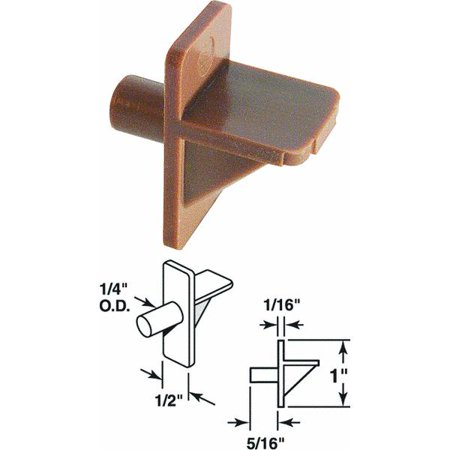 Prime Line Products 241945 Shelf Support Peg, Brown Plastic, 1/4-In.,