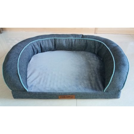 Vibrant Life Comfort Couch Dog Bed Gray Walmart Com