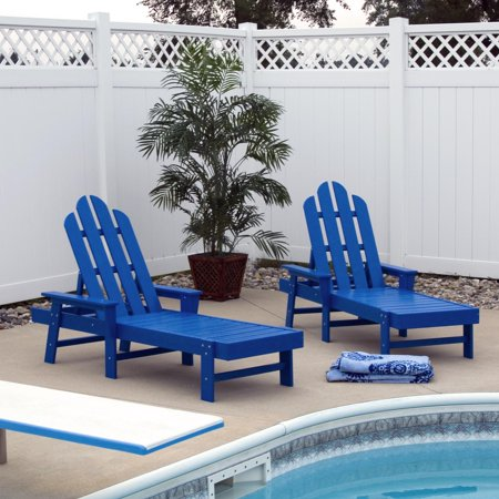 POLYWOOD® Long Island Recycled Plastic Chaise Lounge ()