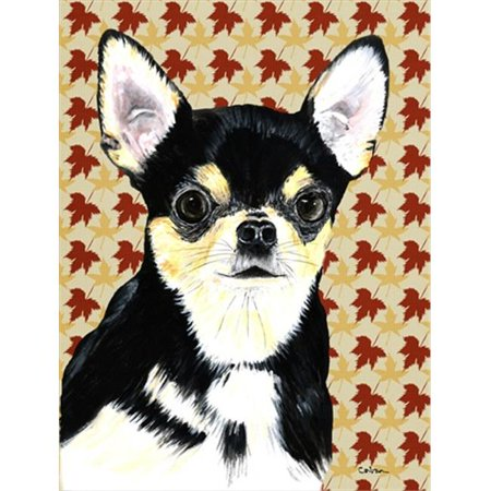 15 x 15 In. Chihuahua Fall Leaves Portrait Flag, Garden Size - image 1 de 1