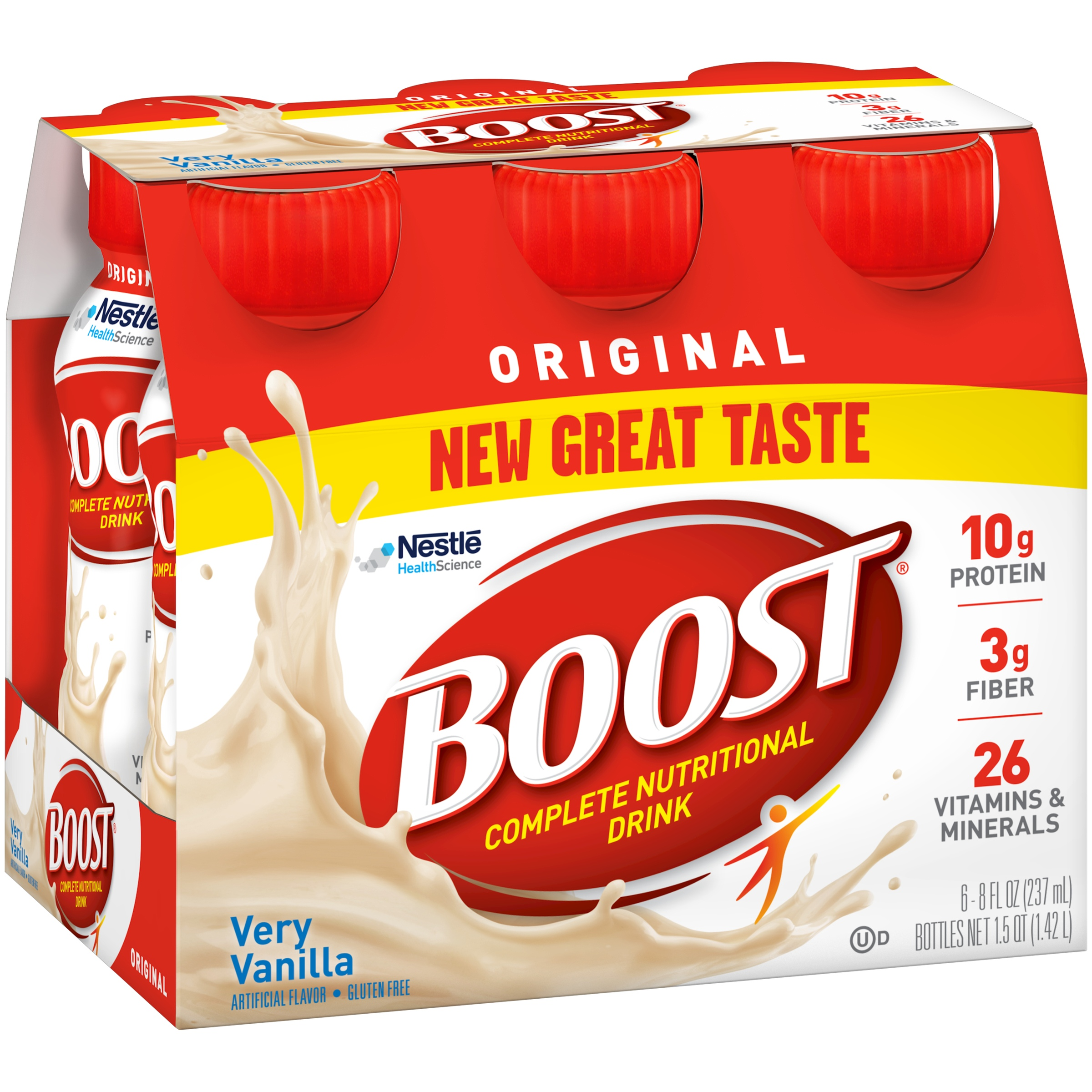 BOOST ORIGINAL Very Vanilla 6-8 fl. oz. Bottles