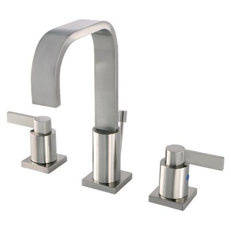 Kingston Brass Continental Widespread Bathroom Faucet with Drain (Widespread Spout Assembly)