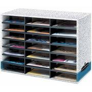 """Bankers Box Literature Sorter, 20.125"""" x 28.5"""" x 11.875"""", 21 Compartments"""