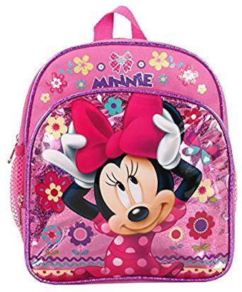 Mini Backpack - Disney - Minnie Mouse w/Fowers Pink New 103279