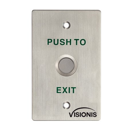 Visionis VIS-7022 Stainless Steel Door Bell Type Standard Size Exit Button for Door Access Control with No LED, NO and COM Outputs