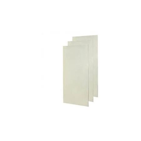 Swan SS-3672-3-126 72-in x 0.25-in x 36-in Swanstone Shower Wall Surround Side and Back Panels in Cloud (Fiberglass Swanstone Shower)