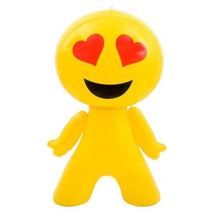 "27"" Inflatable Loving Heart Eyes Emoji Emote Face Man Decoration"