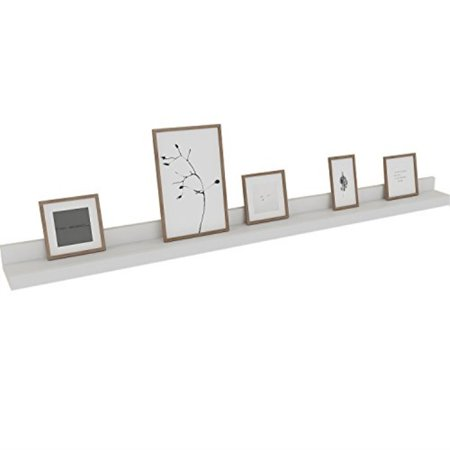 Groovy Kemanner Contemporary Floating Wall Shelf White Display Ledge Shelf For Picture Frames Book Approx 48Inch Length Download Free Architecture Designs Embacsunscenecom