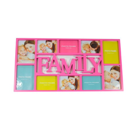 28 75 pink dual sized famille cadre photo collage for Decoration murale walmart