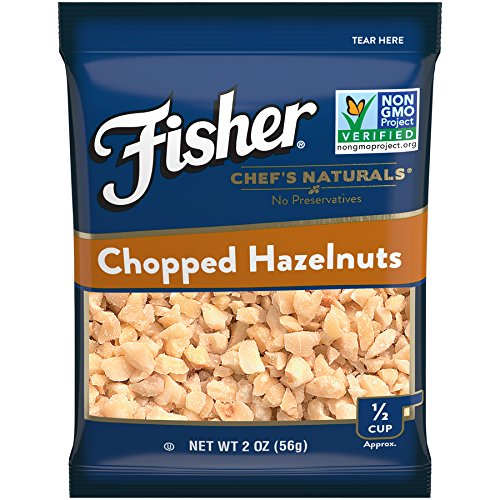 Fisher Chopped Hazelnuts, Non-GMO, No Preservatives, 2 oz