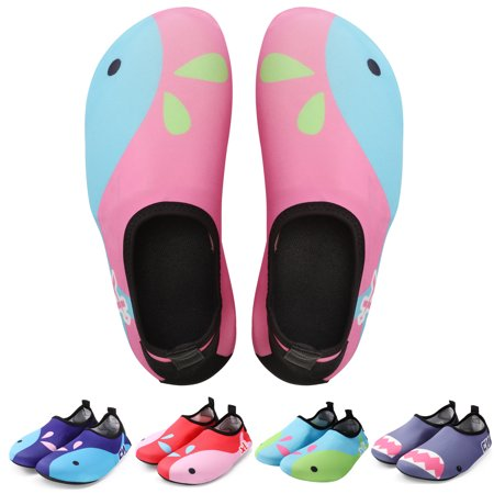 Bridawn Kids Water Shoes Barefoot Shoes Toddler Swim Shoes Quick Dry Non-Slip Barefoot Aqua Socks for Beach Pool, for Boys & (Best Water Shoes For Swimming)