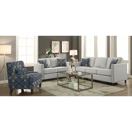 Coaster Coltrane 2-piece Living Room Set Putty-Color:Beige,Style:Transitional Putty Living Room Set