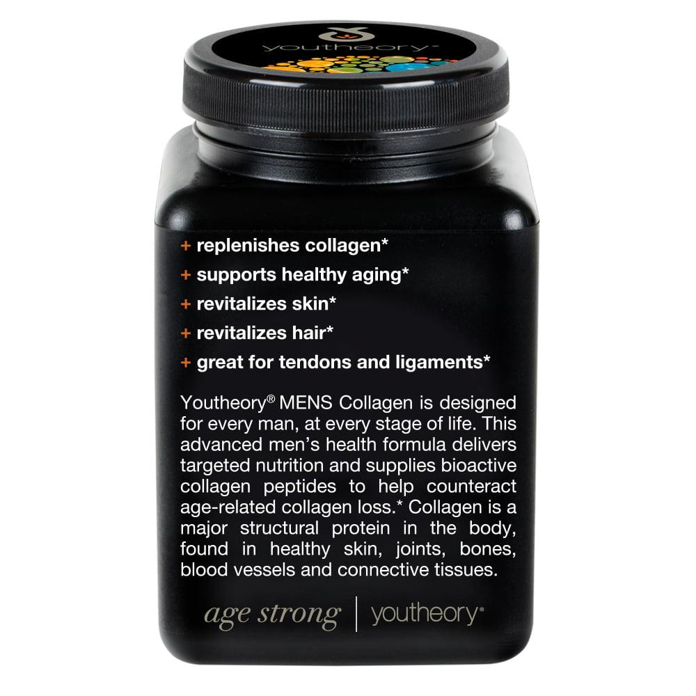 5bdeee7e65 Youtheory Men s Collagen Advanced 290ct - Walmart.com