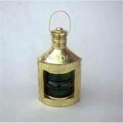 Benzara NAU-BR15271 Starboard Green Ship Lantern Revives The Marine History Again