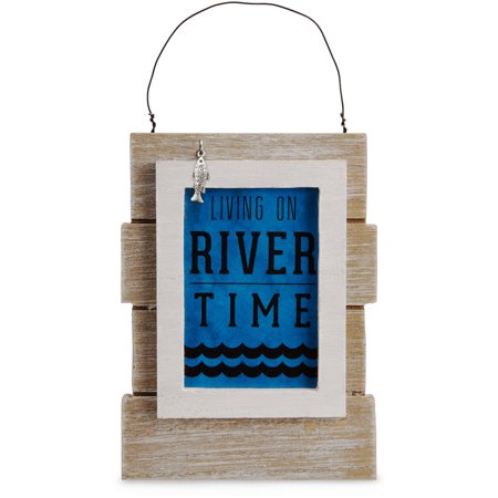 Pavilion - Living on River Time Mini Wall Plaque Desk -