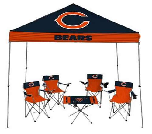 Chicago Bears Tailgate Kit   Canopy   4 Chairs   Table