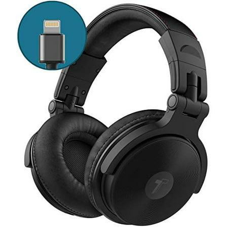 Thore Over Ear iPhone Headphones with Lightning Connector (2018) - Closed Back Studio DJ Monitor Earphones (50mm Neodymium