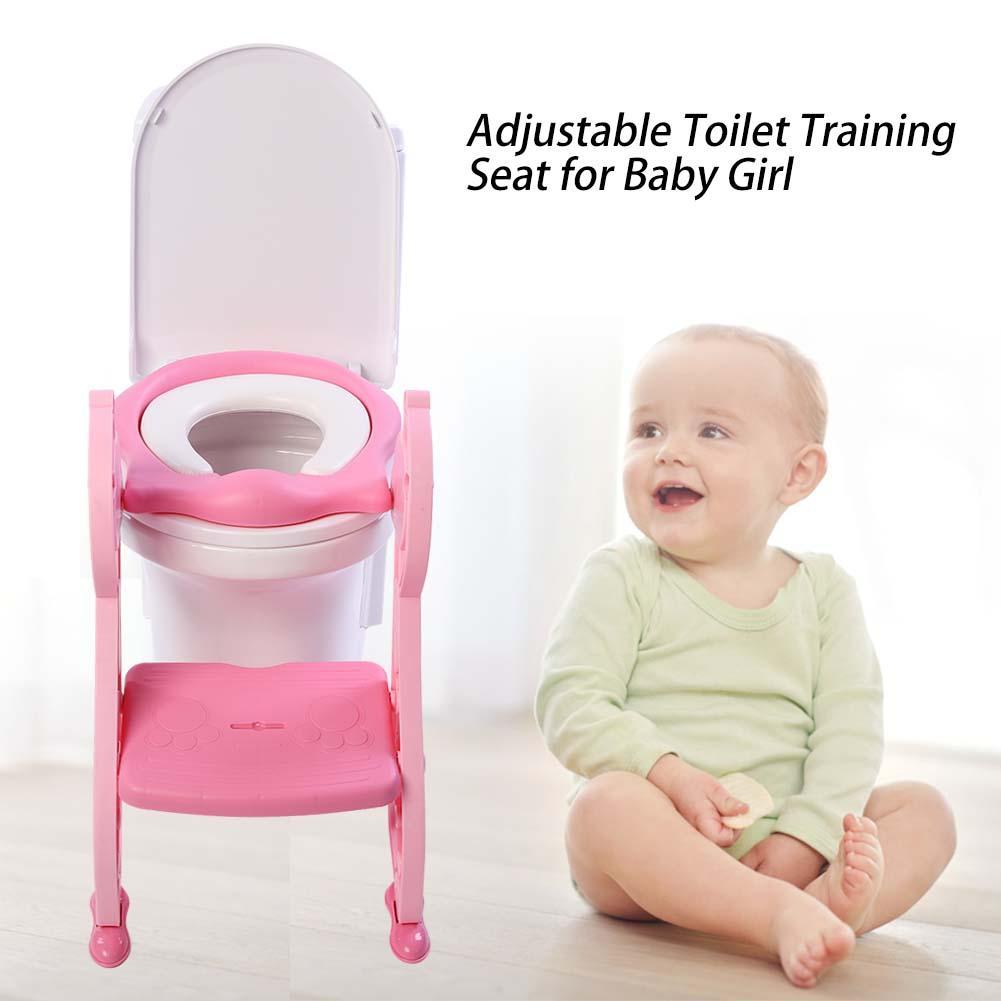 Toddler Toilet Training Seat,Fosa Adjustable Foldable Toddler Toilet Training Seat Potty with Sturdy Non-Slip Ladder Step,Foldable Toddler Toilet Training Seat