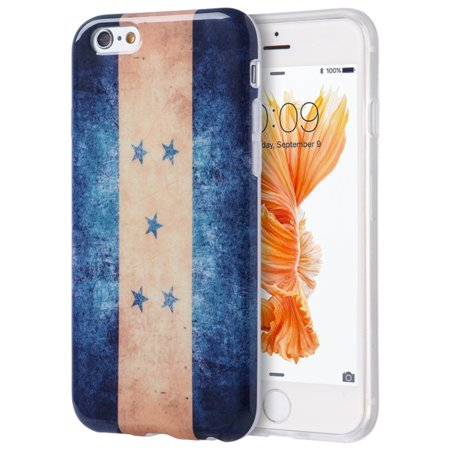 Insten Patriotic Vintage Flag Series Imd TPU Rubber Skin Gel Case For Apple iPhone 6 / 6s - Honduras - Halloween Series Imdb