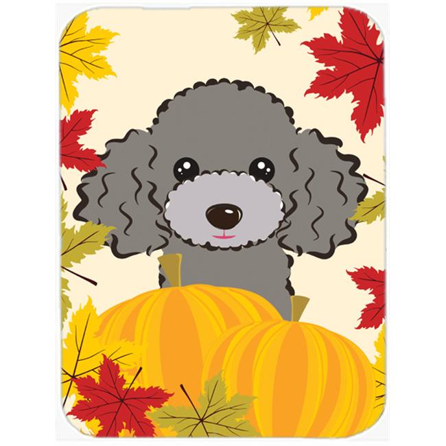 White Poodle Thanksgiving Mouse Pad, Hot Pad or Trivet