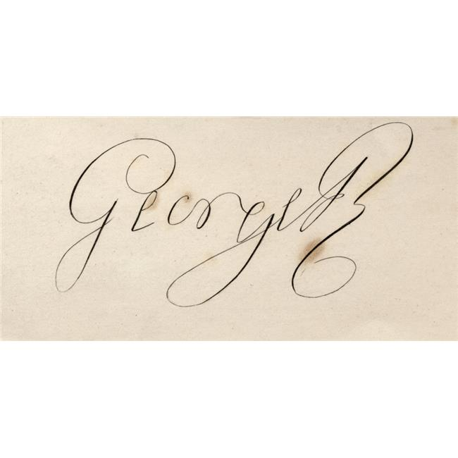 Posterazzi DPI1858433LARGE George III 1738-1820 Signature. George William Frederick. King of Great Britain Poster Print, Large - 42 x 20 - image 1 de 1