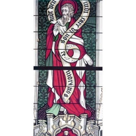 Century Stained Glass - Apostle Phillip  stained glass  13th century Poster Print