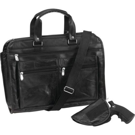 Embassy Genuine Briefcase (Italian StoneDesign Genuine Buffalo Leather Concealed Carry Briefcase)