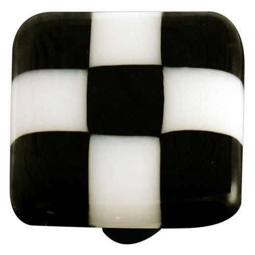 Hot Knobs Checkered Square Cabinet Knob