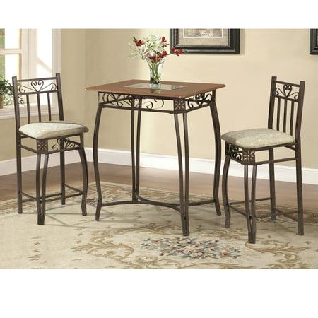 Home Source Bronza Hammerton Bronze 3 Pc Breakfast Table