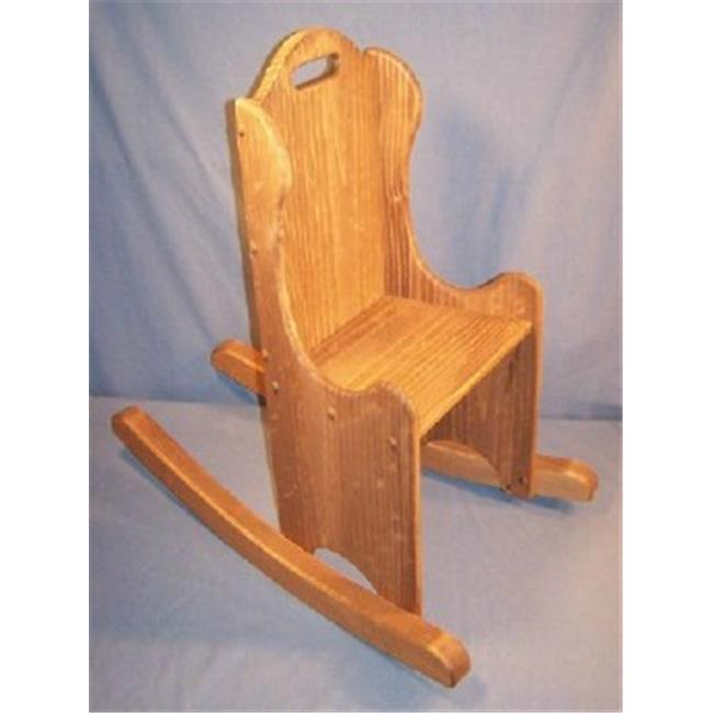 THE PUZZLE-MAN TOYS W-2436 Children's Wooden Play Furniture - Rocking Chair - 14-1/2 inch Seat Height
