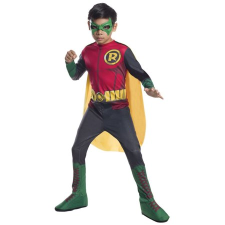 Halloween DC Comics Robin Photo Real Child Costume (Comic Book Character Costume)