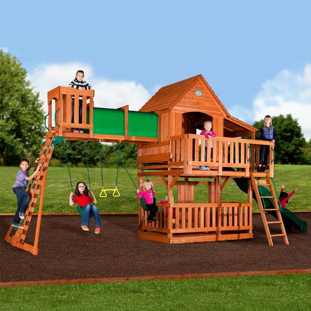 Backyard Discovery Woodridge II Swing Set - Walmart.com ...