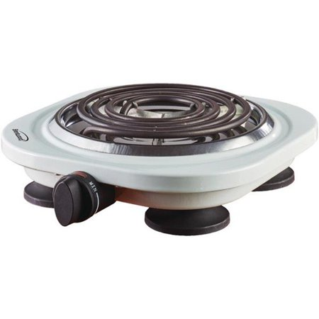Electric 1000 watt Single Burner, White