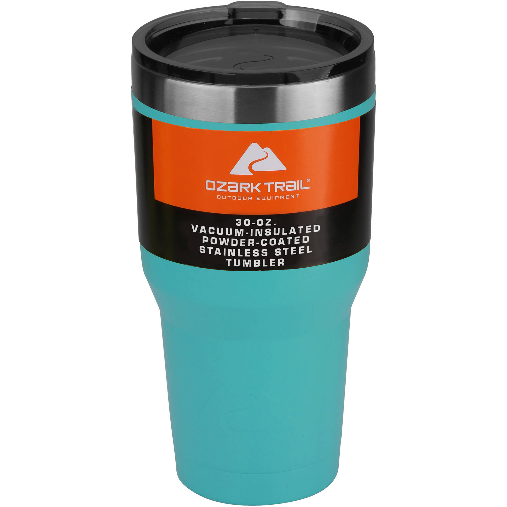30 oz Powder-Coated Tumbler, Turquoise