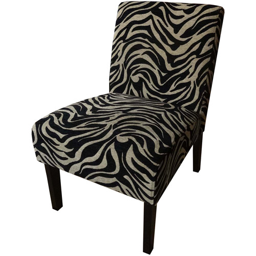 Better Homes and Gardens Slipper Accent Chair, Zebra