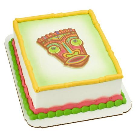 Tiki Polynesian Flair Layon Cake Topper - Tiki Cake