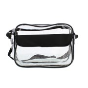 """RC Clear Purse 11"""" x 8"""" x 4"""" NFL Stadium Approved Bag with Zipper Shoulder Strap"""