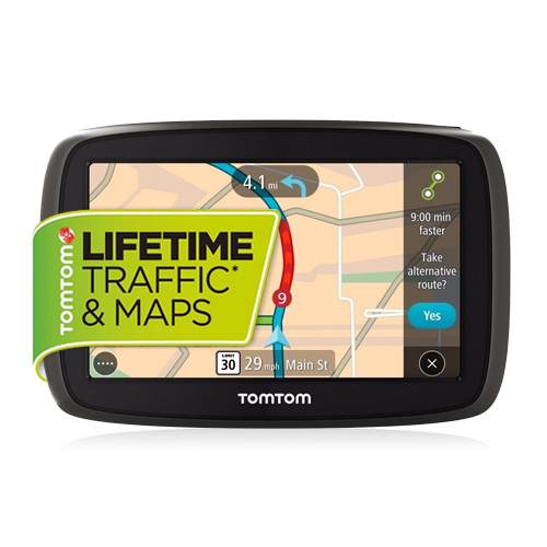 "TomTom GO 50 S 5"" GPS with Lifetime Map and Traffic Updates"