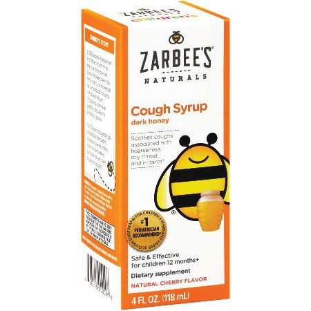 Zarbee's Naturals Children's Cough Syrup with Dark Honey, Natural Cherry Flavor , 4 Fl. Ounces (1