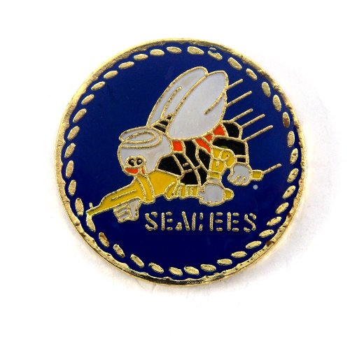 United States Navy Insignia Seal Seebees Lapel Hat Pin Military PPM807 (1 pin)