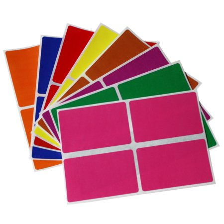 Color Coding Labels in 8 Different Colors - Rectangular Label Stickers for  Name Tags 3x2-128 Pack by Royal Green