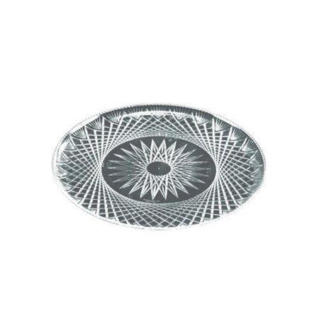 EMI Yoshi EMI-PT16C 16 in. Prisms Collection Clear Crystal Tray - Pack of 25