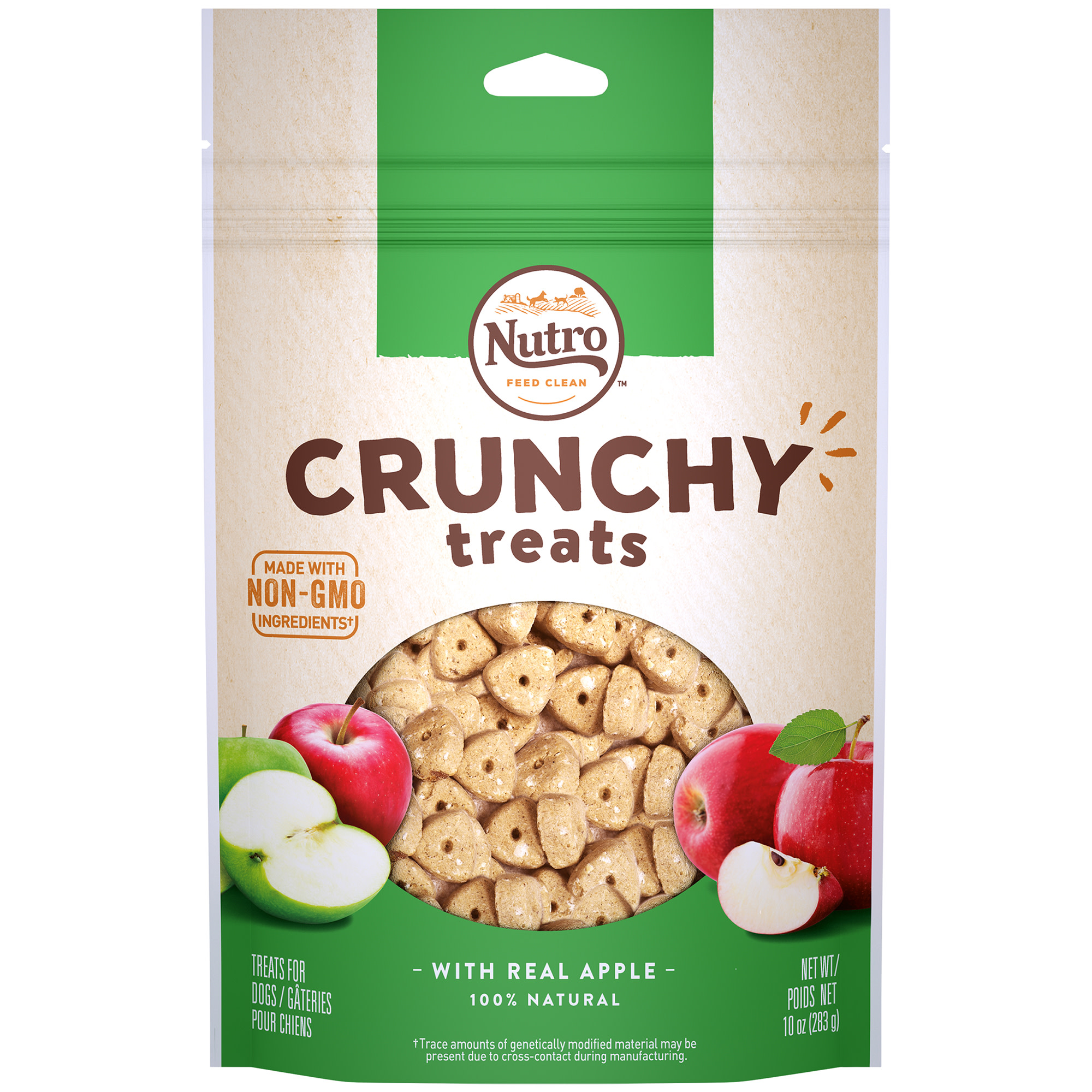 Nutro Crunchy Dog Treats with Real Apple, 10 Oz Bag by Mars Petcare Us