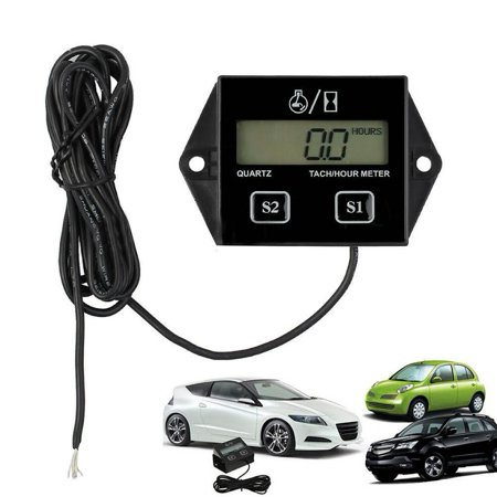 12V LCD Display Inductive Tachometer with Hour Meter for All