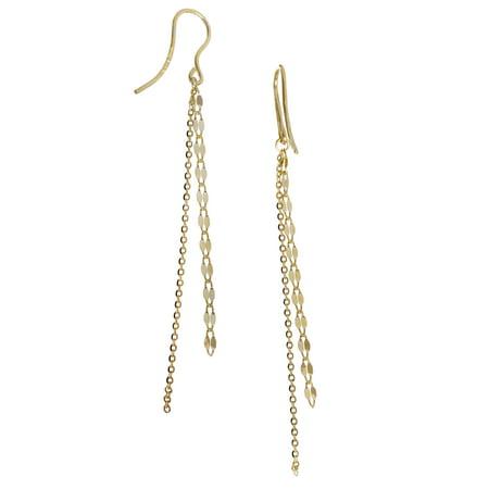 10kt Yellow Gold Fringe (Chain Fringe Earrings)
