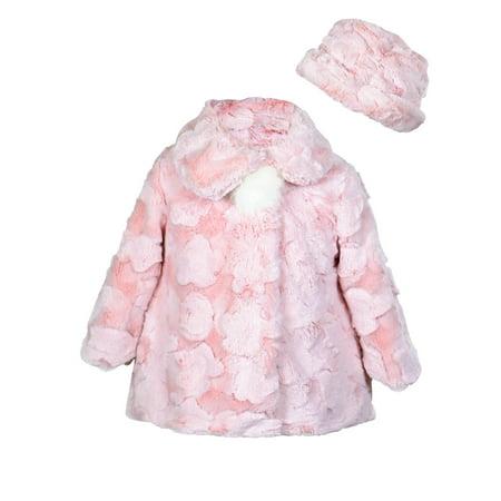 f0a40ea22 Widgeon - Widgeon Little Girls  Button Front Faux Fur Coat