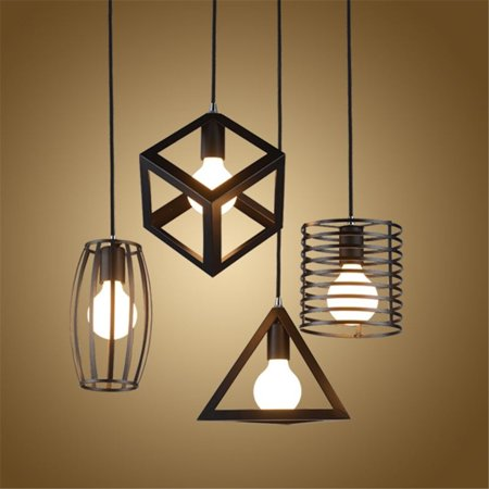 Hot Sale E27 Industrial Vintage Chandelier Ceiling Light Pendant Kitchen Bar Fixture Lamp ()