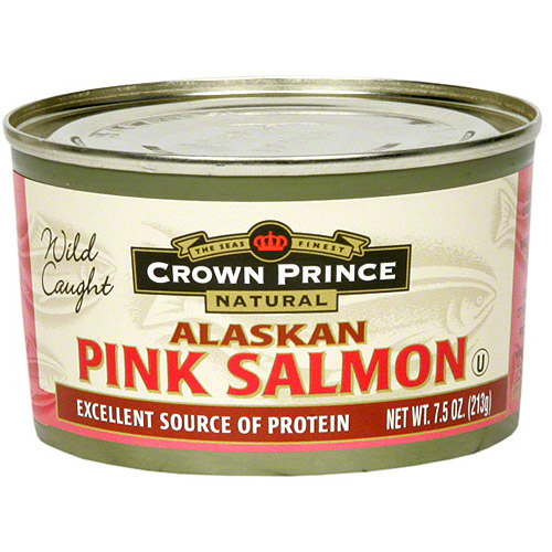 Crown Prince Low Sodium Alaskan Pink Salmon, 7.5 oz (Pack of 12) by Crown Prince